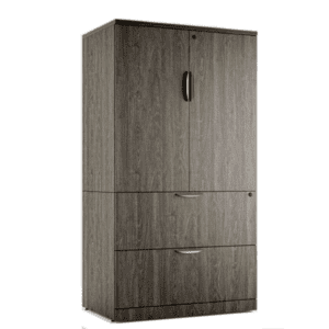 Combination Storage Lateral File Storage Cabinet - Grey