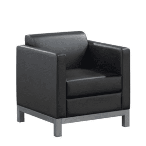 Compose Black Armchair reverse
