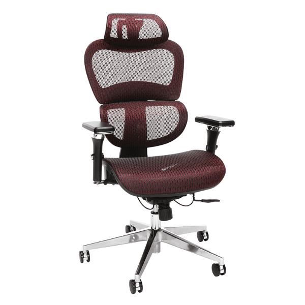 Ergonomic Mesh Chair - Red