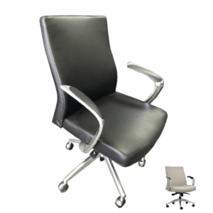 Express Leo 2002 Aluminum Swivel Base Mid Back Executive Knee-Tilt Swivel Chair