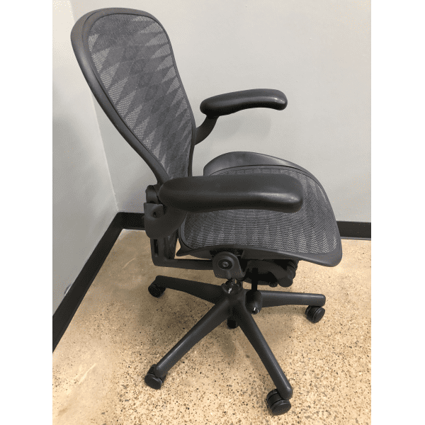 Used Herman Miller Aeron - Tuxedo Mesh - Size B - Right Side