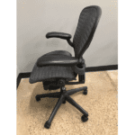 Used Herman Miller Aeron - Version 1 - Tuxedo Mesh - Size B - Left Side