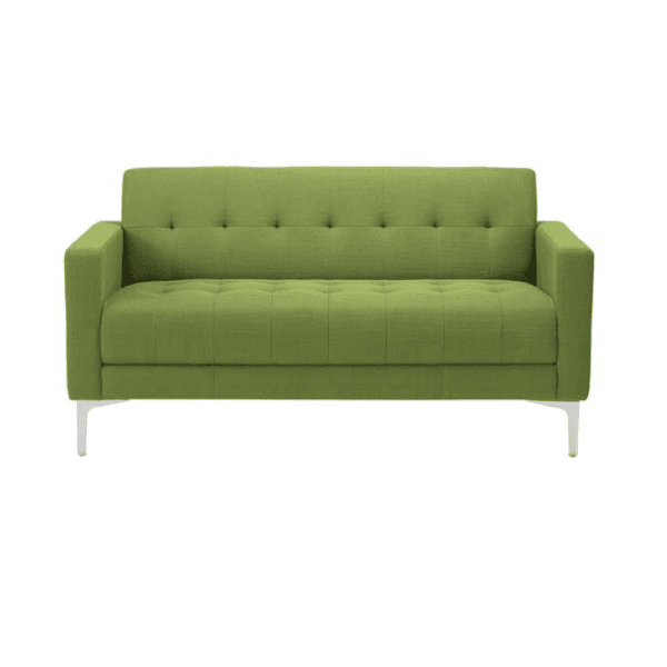 Kashmir Green Fabric Sofa Facing