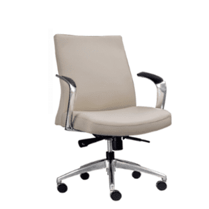 Leo 2002 Contemporary Mid-Century Hybrid Cream Mid Back Executive Chair - Main