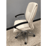 Leo 5002 Contemporary Cream Mid Back Executive Chair - Left