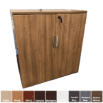 Modern Walnut Two Door Storage Cabinet with Adjustable Shelving