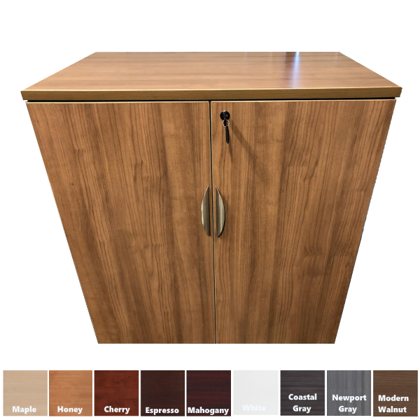 PL152 Modern Walnut Two-Door Storage Cabinet - Modern Walnut