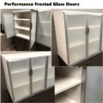 PL152 Storage Cabinet with Large Glass Doors