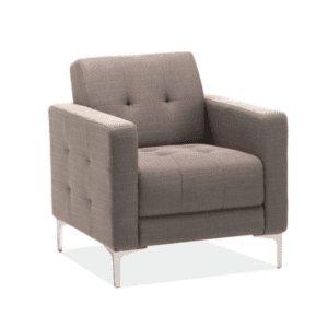 Retro Taupe Tufted Seat & Back Club Chair
