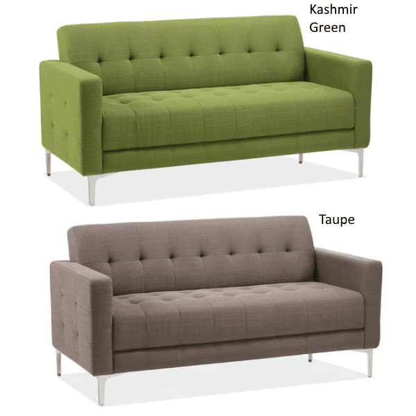Retro Tufted Sofas in Two Fabric Colors