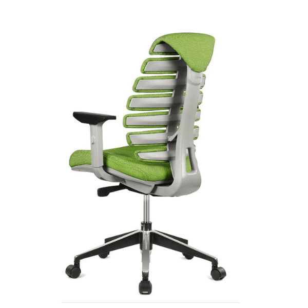 Spine Chair - Green - Rear View