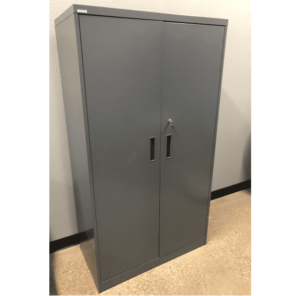 Steelcase Storage Cabinet - Charcoal