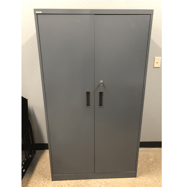 Steelcase Storage Cabinet - Facing - Charcoal