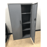 Steelcase Storage Cabinet - Open Door - Charcoal