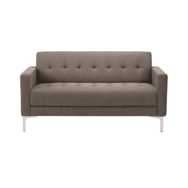 Taupe Fabric Sofa Facing