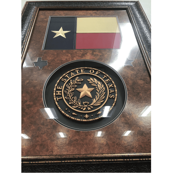 Texas Flag with Seal close