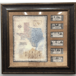 Republic of Texas Map and Money