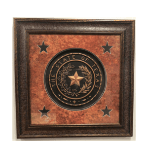 Texas Seal Wall Print - 31 x 31