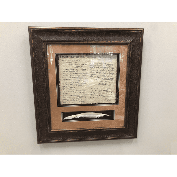 Wall Mount Texas Revolution Print - Travis Letter