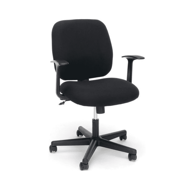 Values Black Fabric Task Chair - T-Arms - main