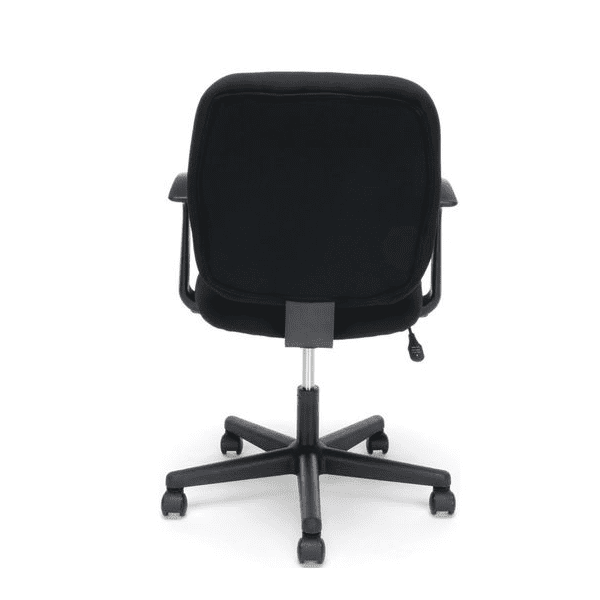 Values Black Fabric Task Chair - T-Arms - rear