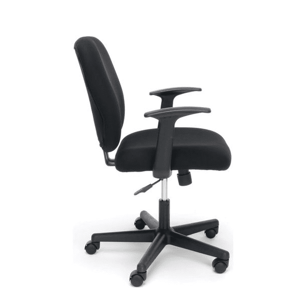 Values Black Fabric Task Chair - T-Arms -- side