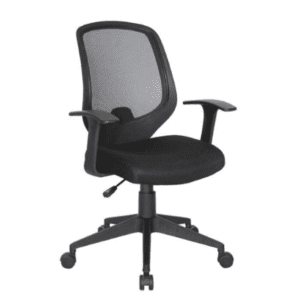 Values Collection Fixed T-Arms Black Mesh Back Task Chair
