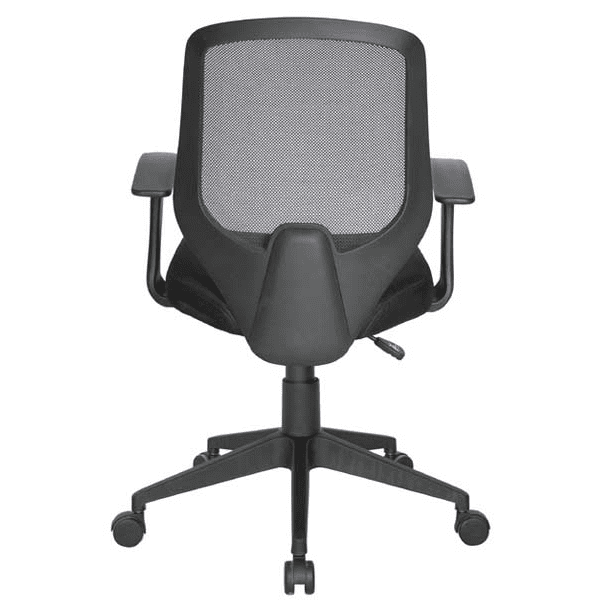 Values Collection Fixed T-Arms Black Mesh Back Task Chair - rear