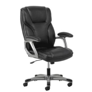 Values High Back Threaded Office Chair - Black