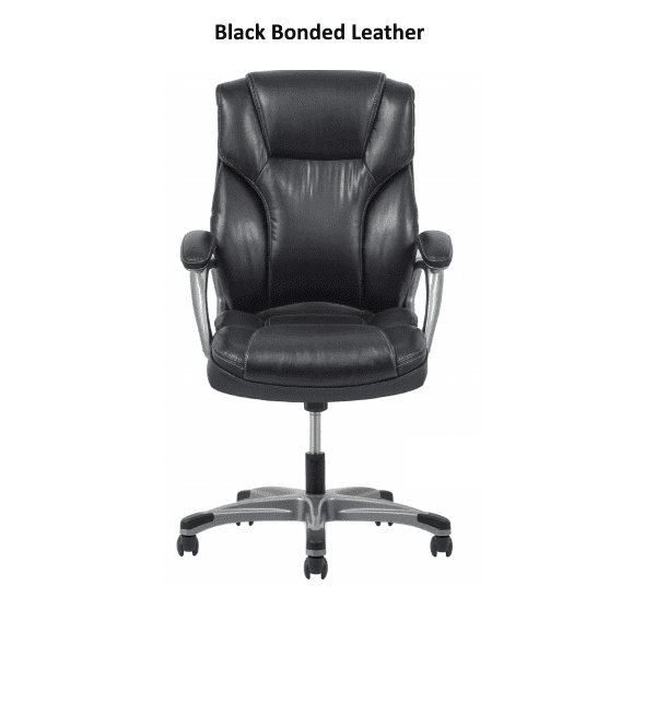 Values High Back Threaded Office Chair - Black - Facing