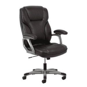 Values High Back Threaded Office Chair - Brown