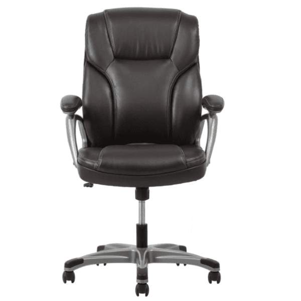 Values High Back Threaded Office Chair - Brown - Facing