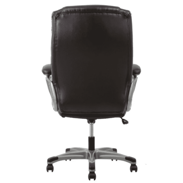 Values High Back Threaded Office Chair - Brown - Rear