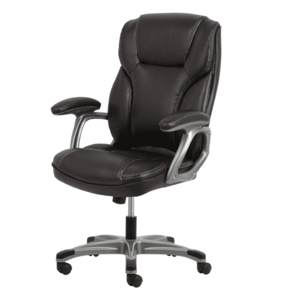 Values High Back Threaded Office Chair - Brown - Reverse Angle
