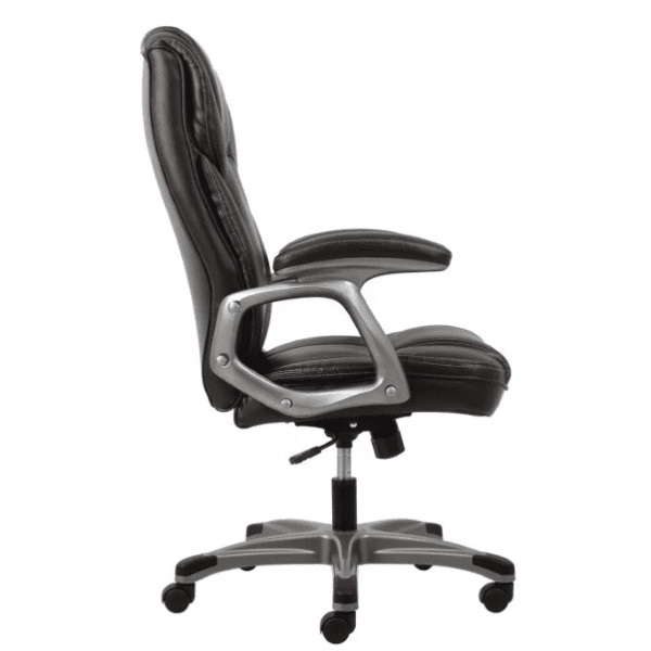 Values High Back Threaded Office Chair - Brown - Side