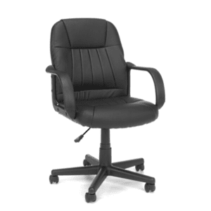 Values Mid-Back Bucket Leather Office Chair