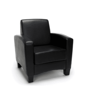 Values Soft Seating Collection Black Leather Club Chair 2