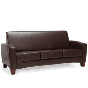 Values Soft Seating Collection Brown Leather Sofa