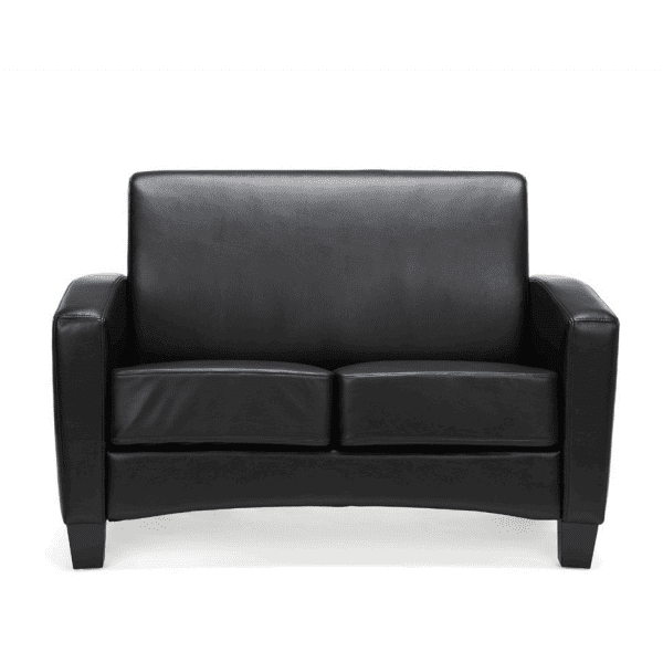 Values Soft Seating Collection Loveseat - Black Leather