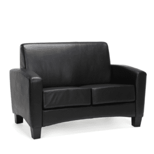 Values Soft Seating Collection Loveseat - Black Leather Material
