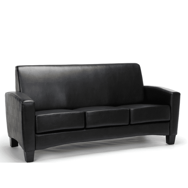 Values Soft Seating Collection Sofa - Black Leather