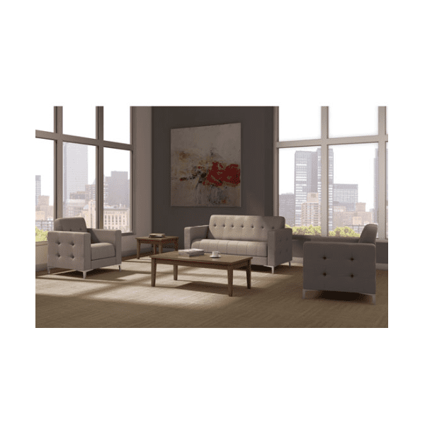 hagen tufted reception soft seating group taupe