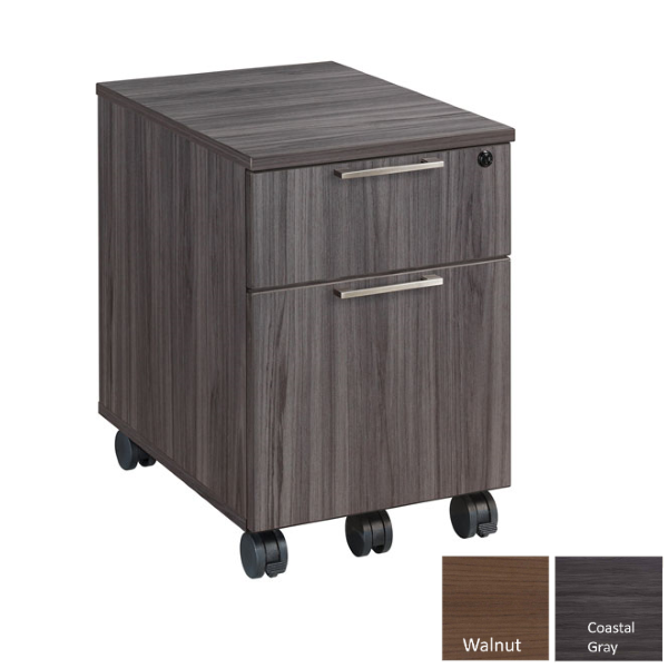 Mobile two drawer cabinet