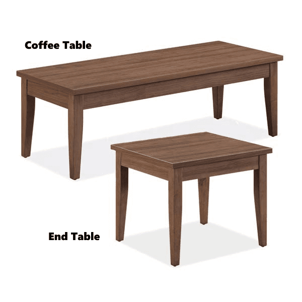 Coffee and End Table - Walnut