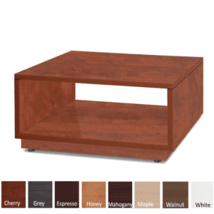 Compose Laminate Base Open Square Reception End Table - Cherry - 8 Colors