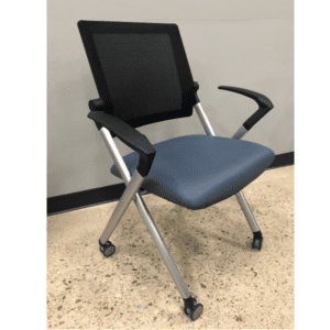 Mesh Back Training Room Nesting Chair - Molded Foam - Dallas & Ft Worth