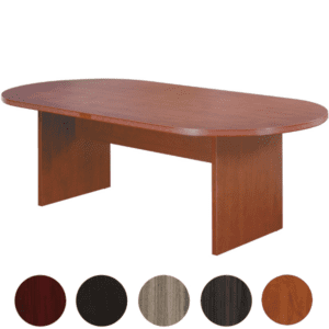 6' Oval Cherry Conference Table - AW Office Furniture