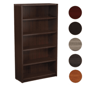 5-Shelf Bookcase in Espresso Finish