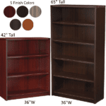 "Napa Series Bookcases - 42"" & 65"" Tall - 5 Colors"
