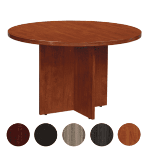 "Cherry 48"" Round Table with Fluted Edge"